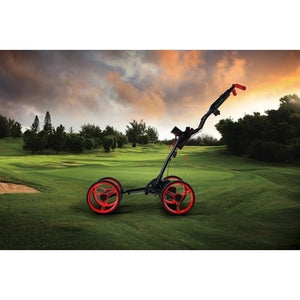 GolferPal Q1 4 Wheel Push Golf Buggy Cart w/ Brake