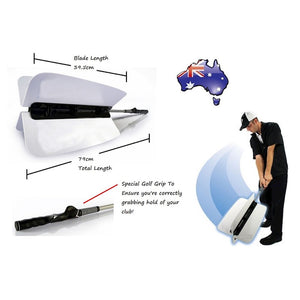 Golf Trainer Practice club Pinwheel Training Power Fan Swing Aid