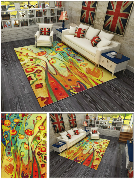 Modern Art Carpets For Living Room - Abstract Area Rugs For Bedroom Home Decor