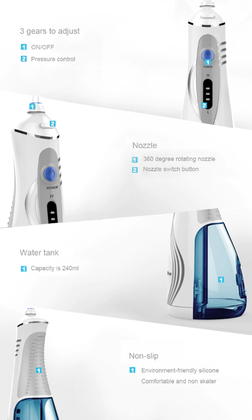 Rechargeable Portable Oral Irrigator For Travel