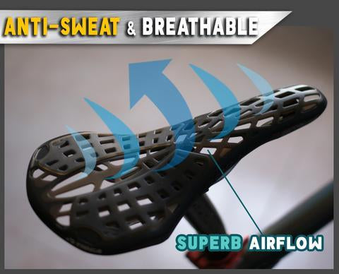 Hollow Spider Web Saddle Suspension Bike Seat - Super Light Bicycle Saddle Seat Cushion