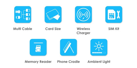 Urban Survival Accessories Card - Portable Wireless Multi-Head Charging Cable Card