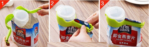 Pour & Seal Food Storage Bag Clip