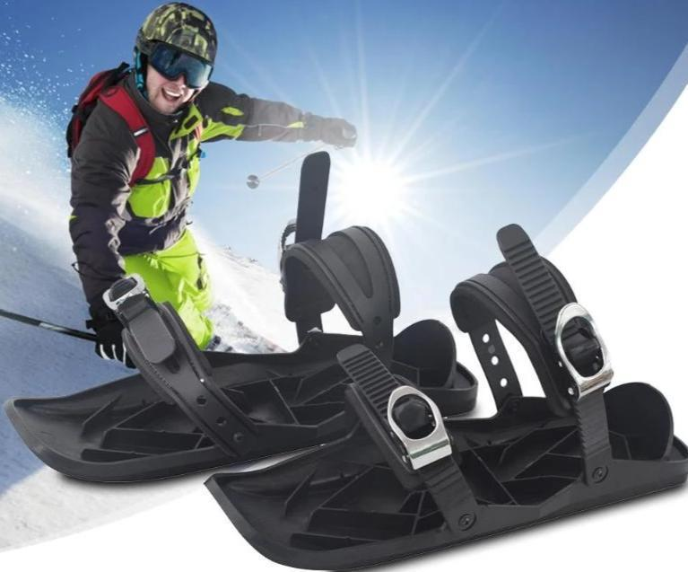 1 Pair Ski Shoes - Adjustable Mini Ski Skates Shoe Attachment For Snow