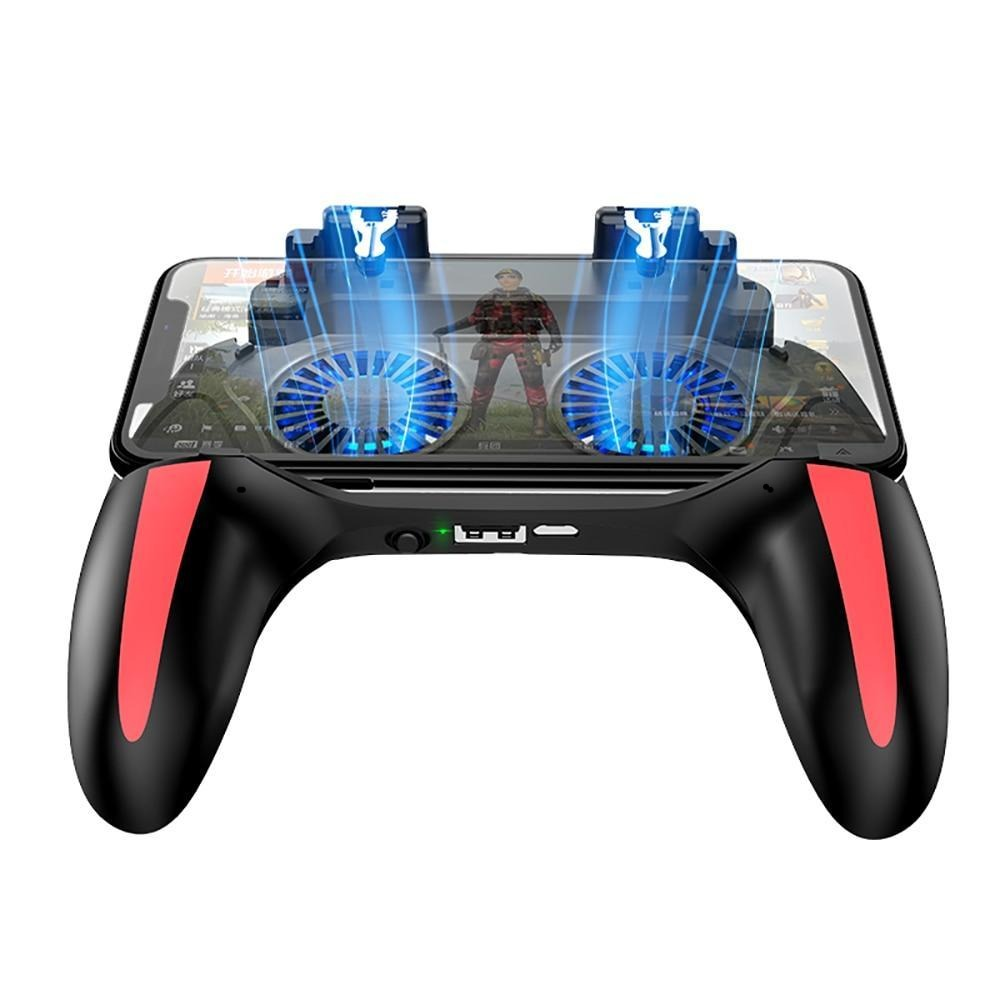 2 in 1 GamePad Power Bank Mobile Controller With Dual Cooling Fan