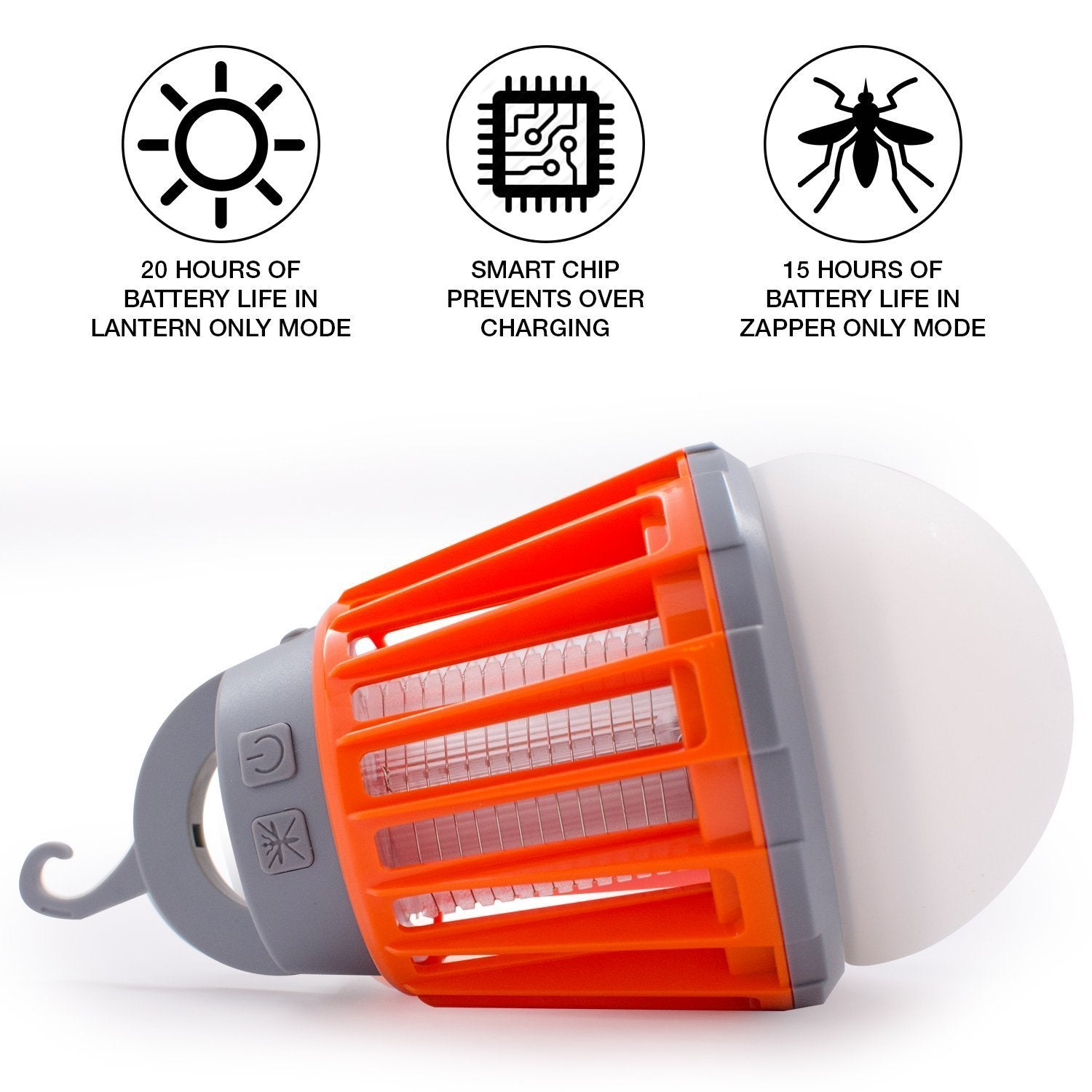 2-in-1 Mosquito Killer Camping Lantern - Waterproof Mosquito Repellent Light Bulb