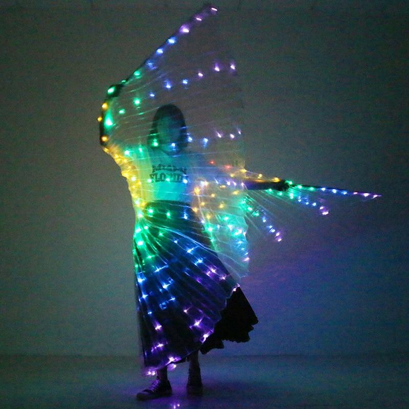 360 Degree LED Butterfly Rainbow Color Wings Stage Performance Props Costume - Belly Dancing