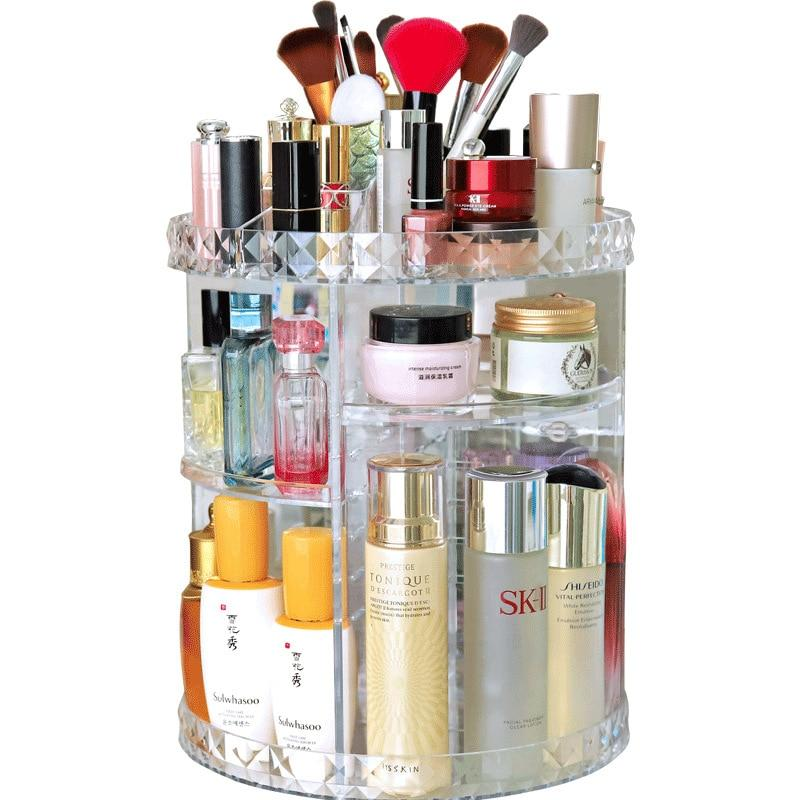 360 Rotating Makeup Organizer Cosmetics Storage Shelf Rack