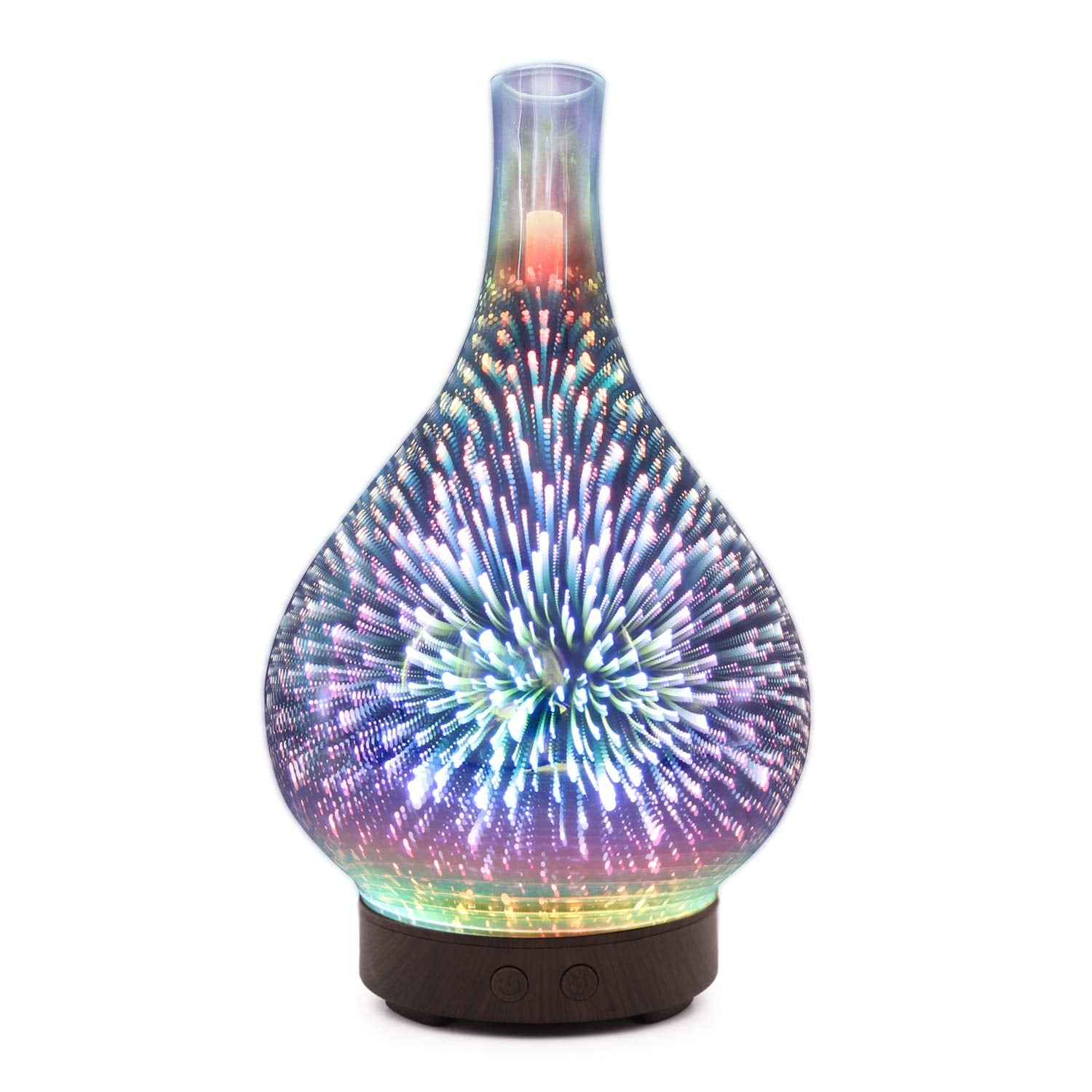 3D Firework Glass Vase Air Humidifier & Essential Oil Diffuser Mist Maker - Humidifiers