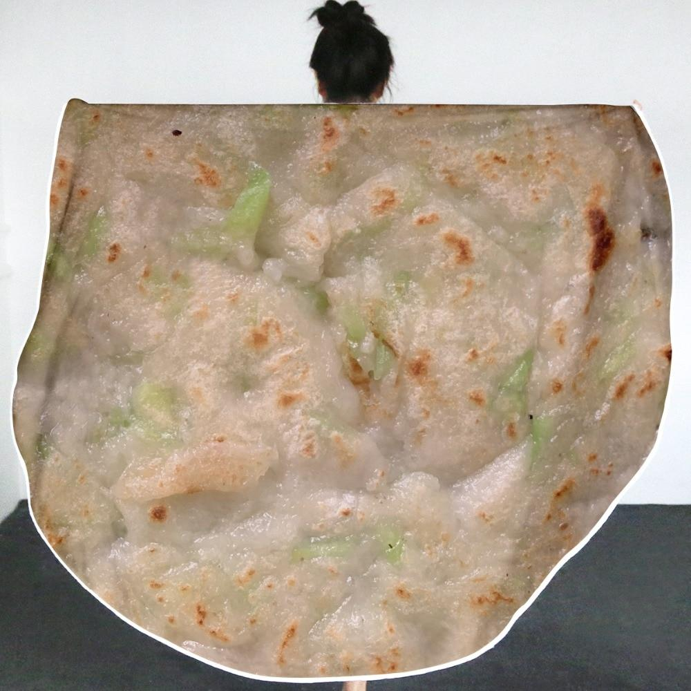 3D Mexican Burrito Blanket - Soft Giant Tortilla Throw Blanket For Your Family - Burritos-4 / Coral Fleece - Diameter 180cm