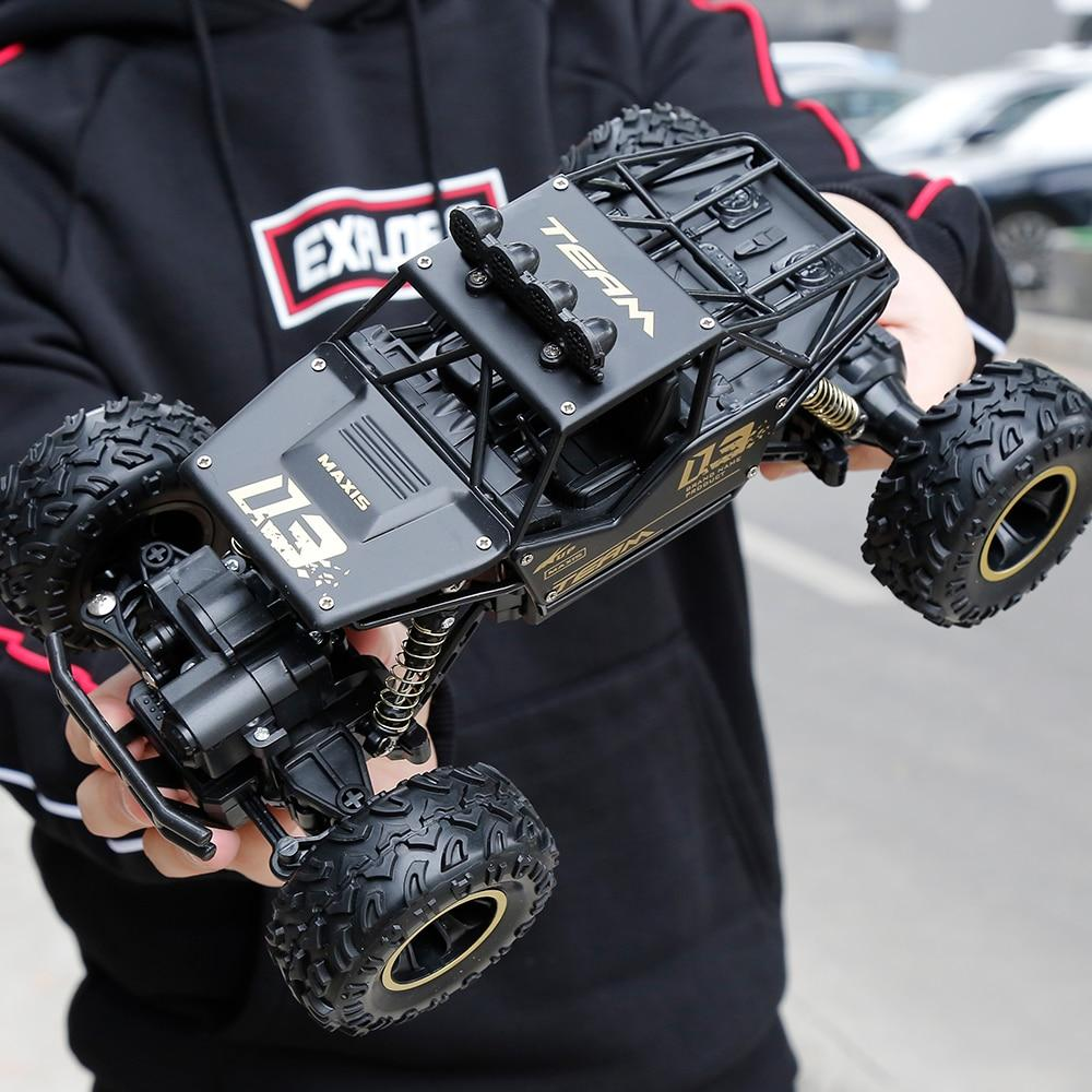 4WD High Speed Dual Motor RC Car - 4X4 Off Road Rock Crawler - 27cm Black metal - RC Cars