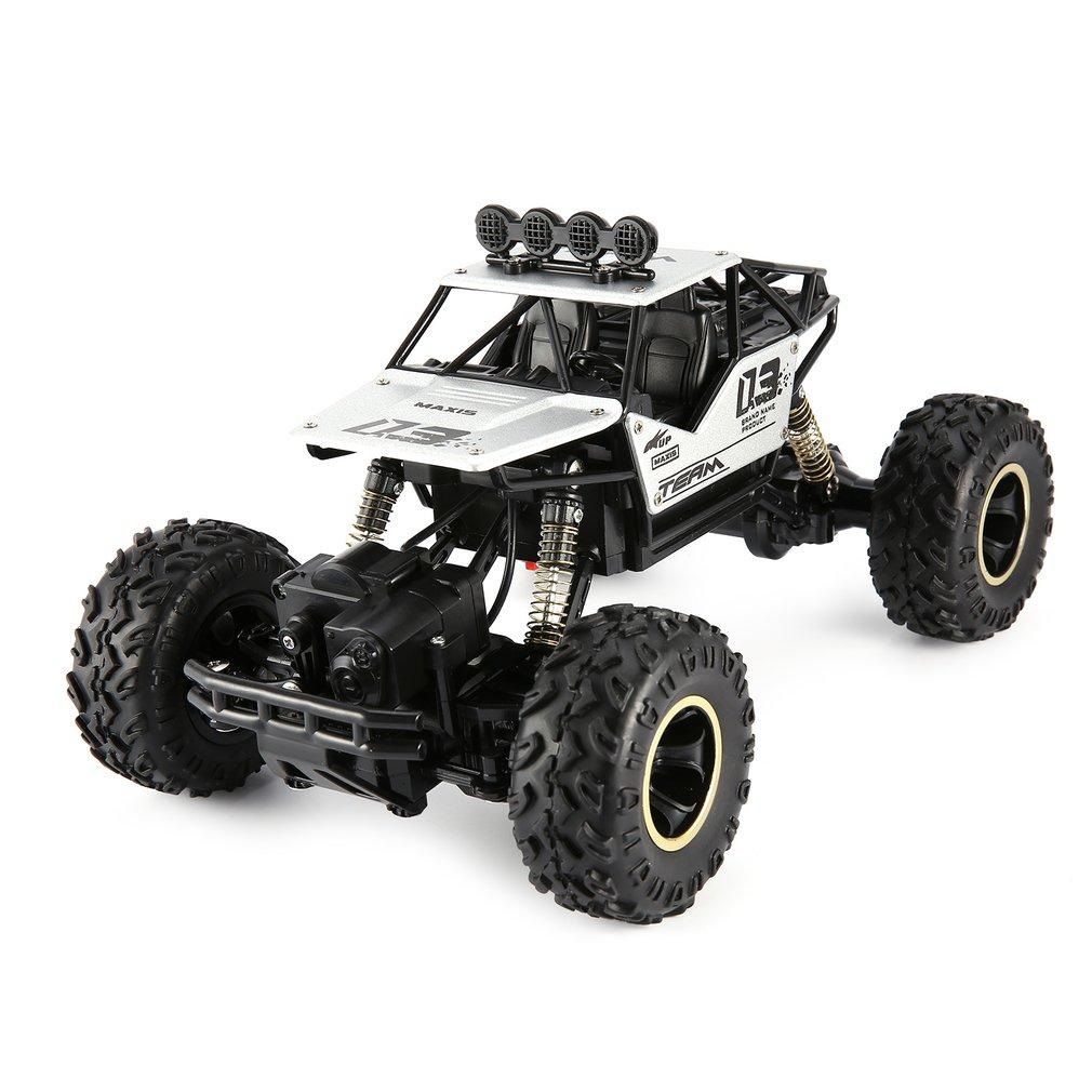 4WD High Speed Dual Motor RC Car - 4X4 Off Road Rock Crawler - 27cm White metal - RC Cars