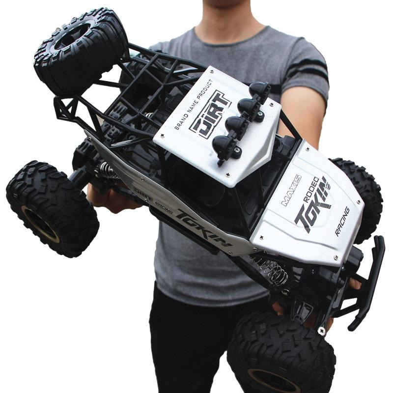4WD High Speed Dual Motor RC Car - 4X4 Off Road Rock Crawler - 37cm White Large - RC Cars