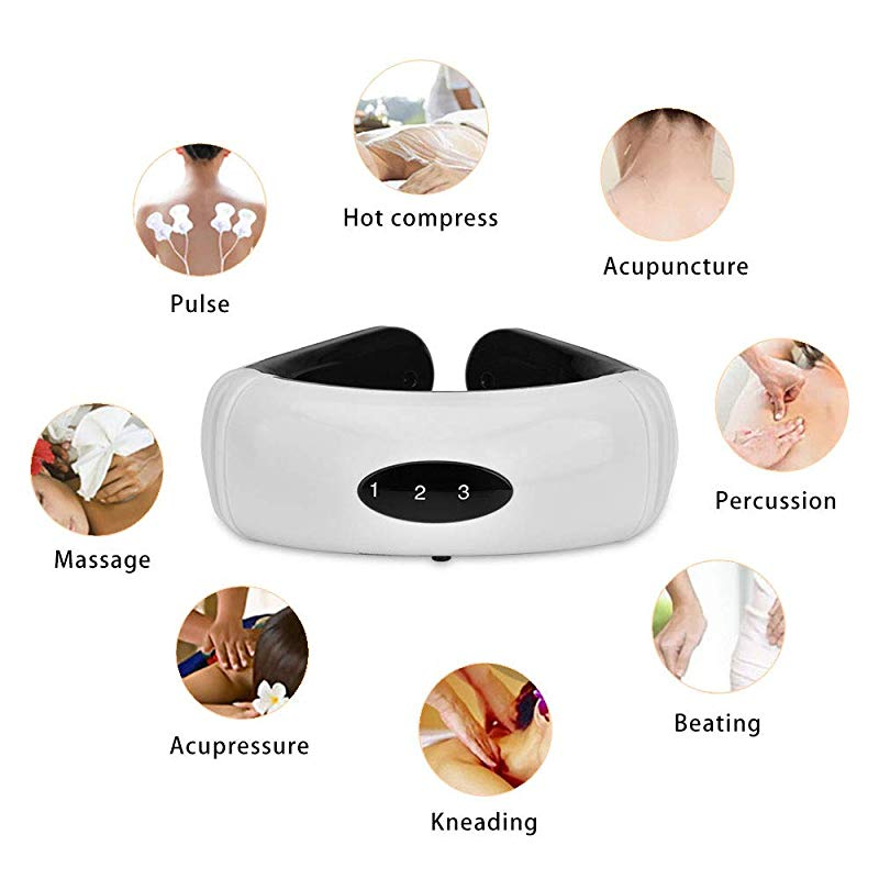 Electric Pulse Back and Neck Massager - Pain Relief Cervical Massager