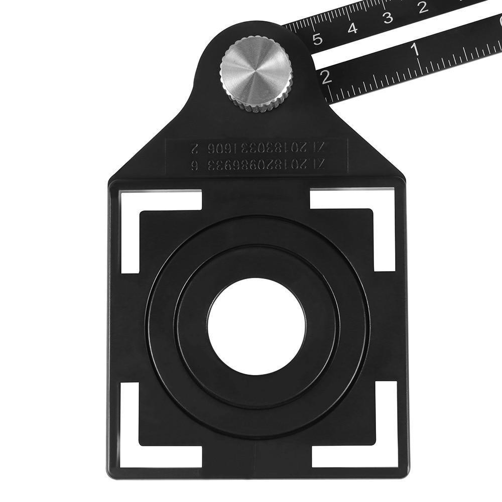 6 Fold Hole Template - Universal Opening Locator Multi Angle Measuring Tool - Protractors