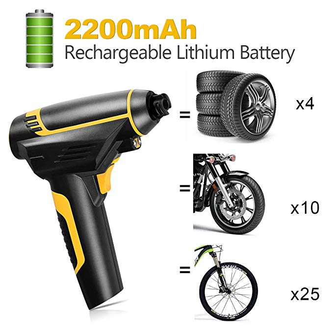 Portable Rechargeable Car Air Pump Tire Inflator