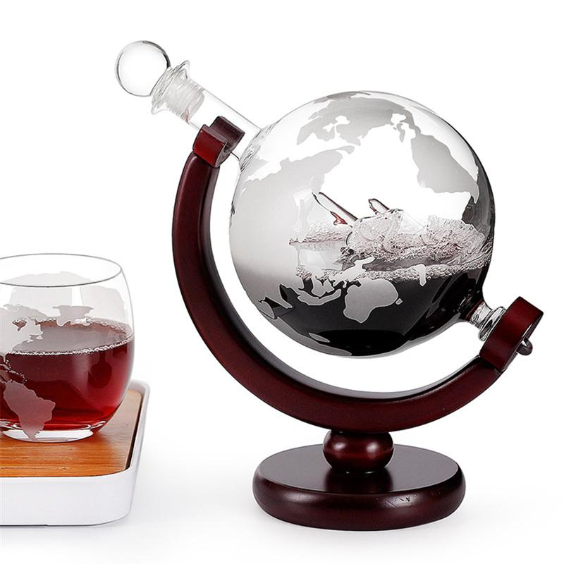 Antique Ship In The Bottle - Globe Whiskey Decanter For Liquor Vodka Scotch Wine