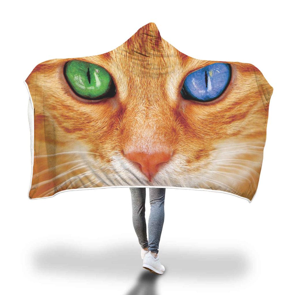 Cats Eye Custom Hooded Blanket - Hooded Blanket