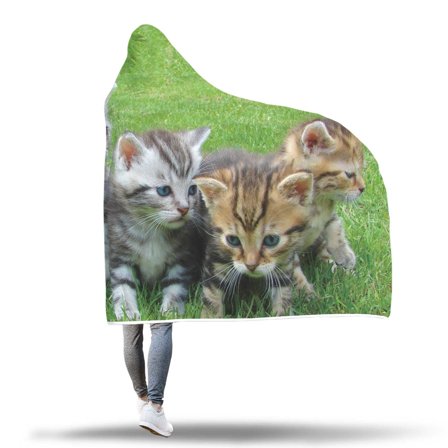 Kittens Custom Hooded Blanket - Hooded Blanket