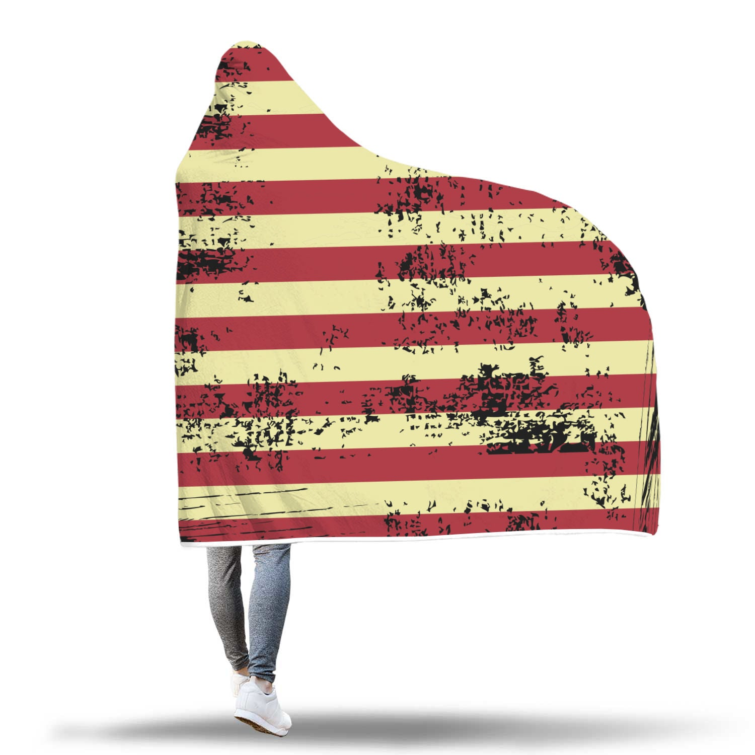 American Flag Custom Hooded Blanket - Hooded Blanket
