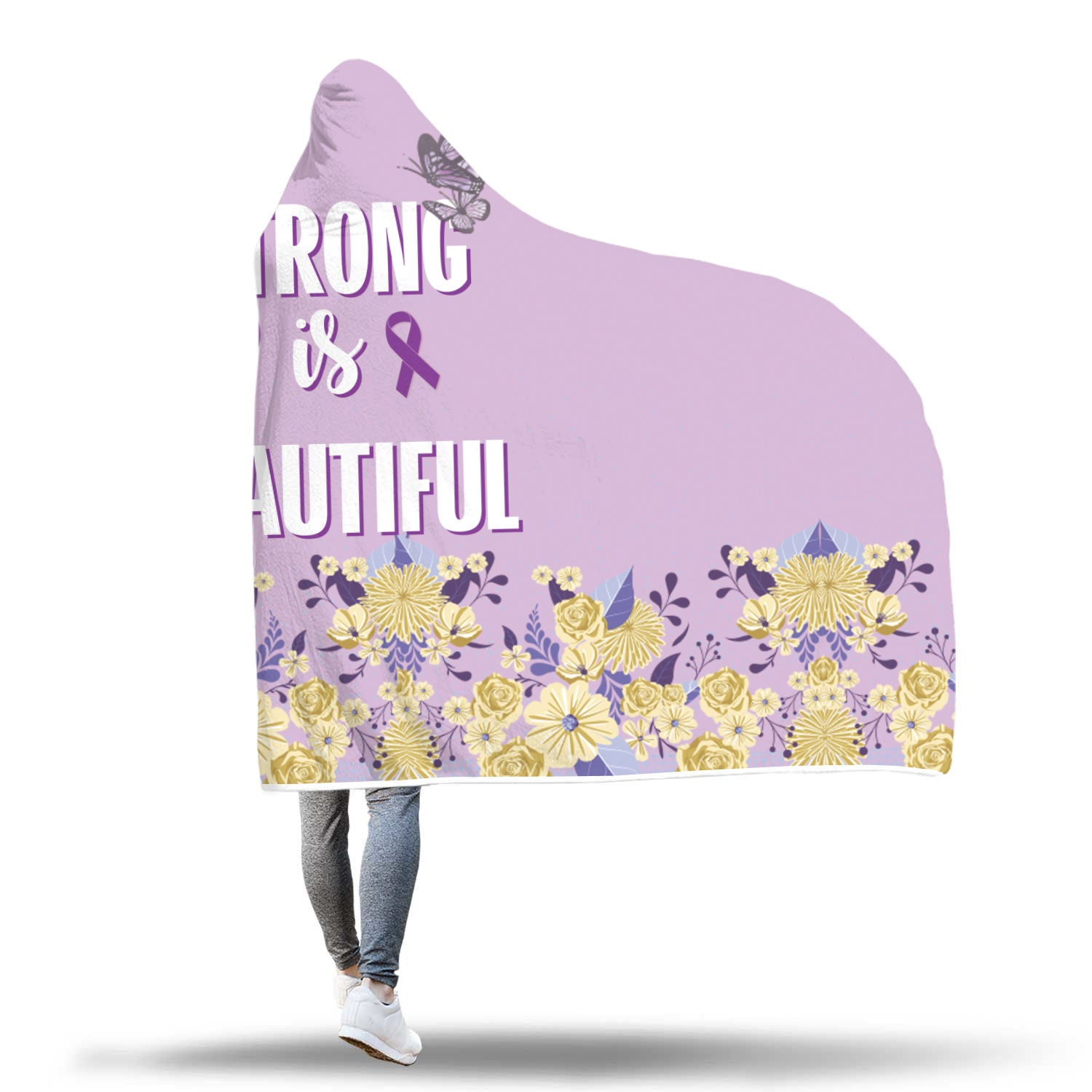 Strong Is Beautiful Custom Hooded Blanket - Hooded Blanket