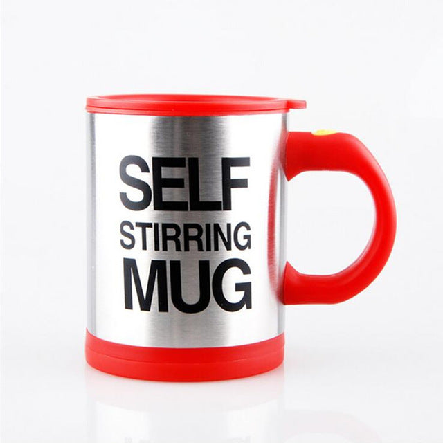 Lazy Self Stirring Mug - Red