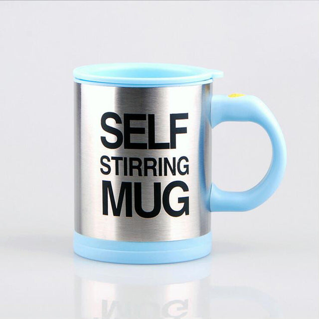 Lazy Self Stirring Mug - Blue