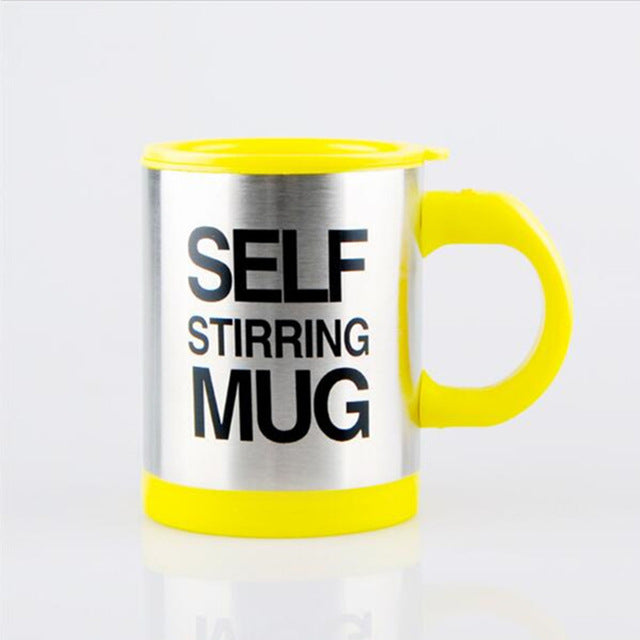 Lazy Self Stirring Mug - Yellow