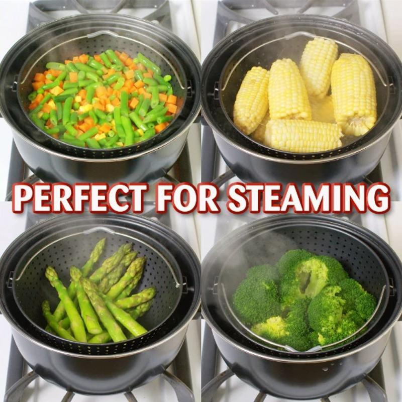 StrainPot - Cooking Pot With Built-In Strainer Pot Drain Basket