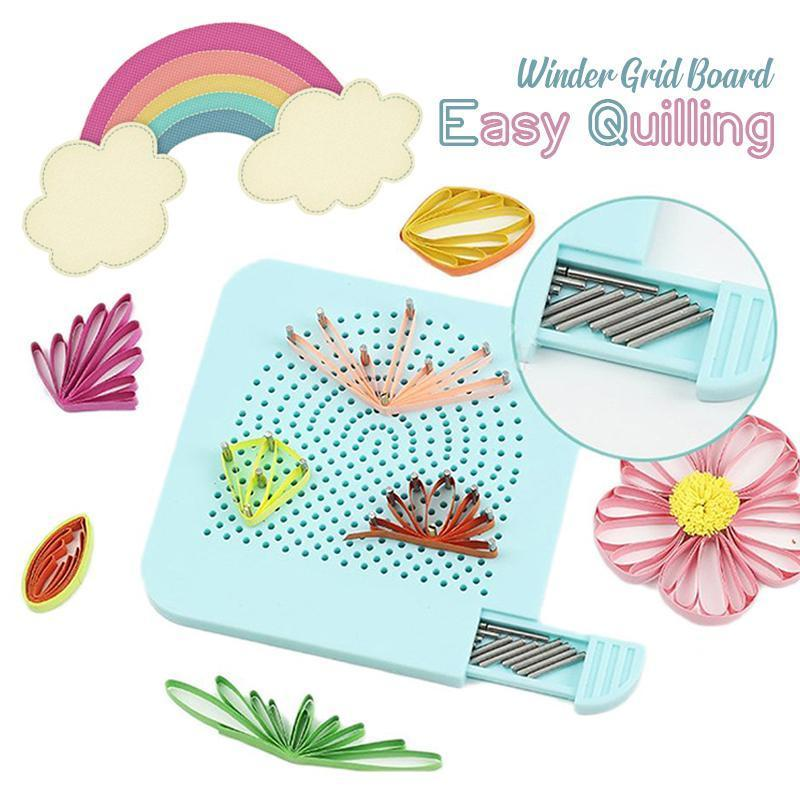 Easy Paper Quilling Winder Grid Guide Board - Paper Folding Craft Tool