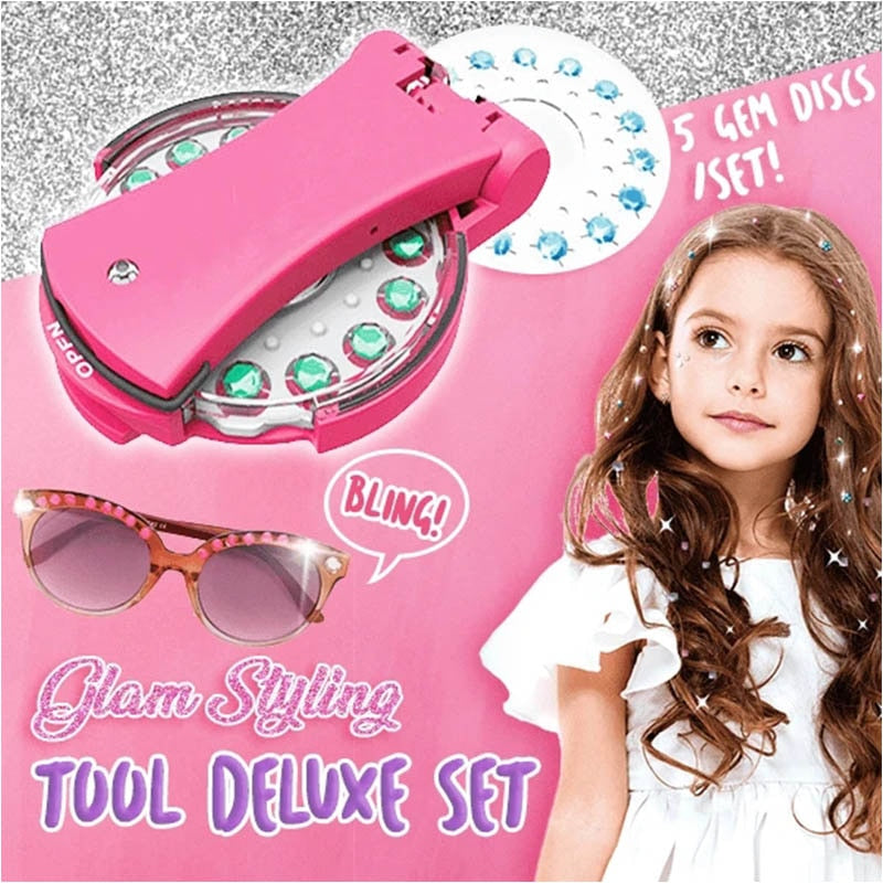 Diamond Gem Stapler - Girl Bling Glam Styling Tool Deluxe Set