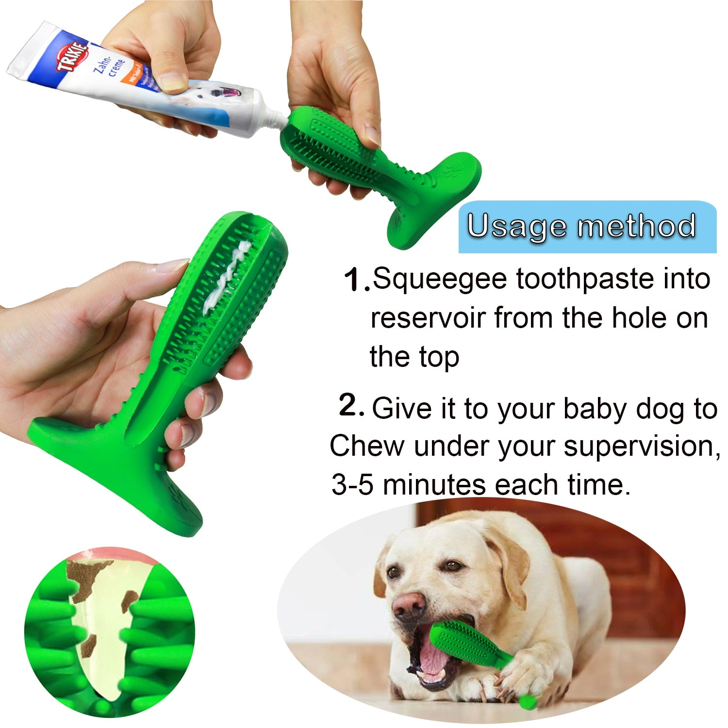 Best Dog Toothbrush Stick - Doggy Dental Care Brushing Stick
