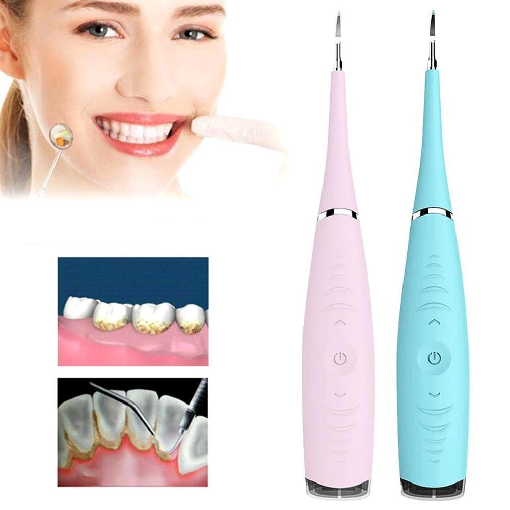 Portable Electric Ultrasonic Plaque Remover Teeth Cleaner