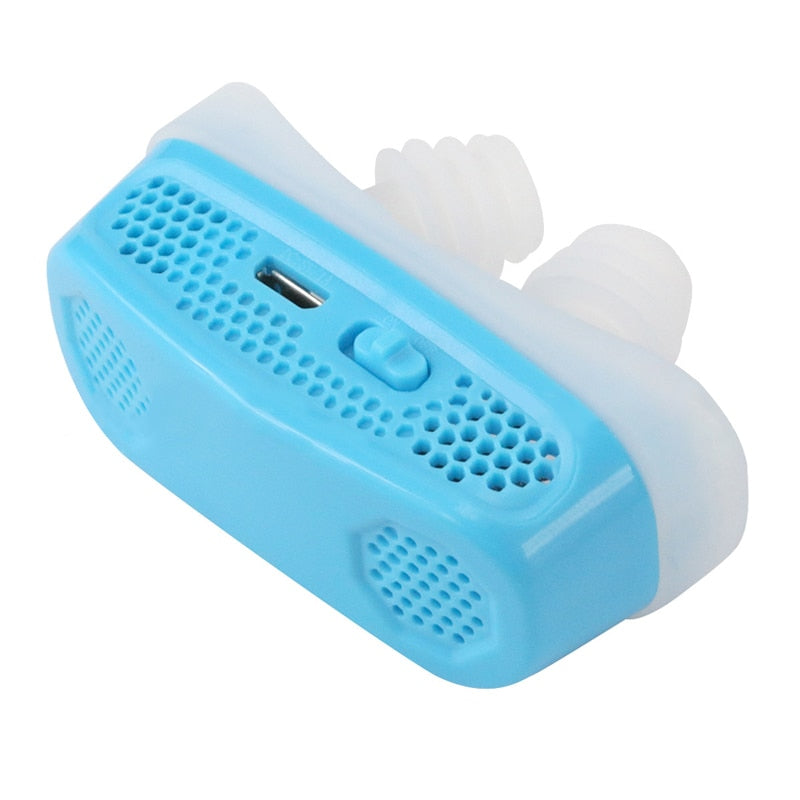 Electronic Anti Snoring Silicone Device - Snore Guard Sleep Apnea Aid - Sleep & Snoring