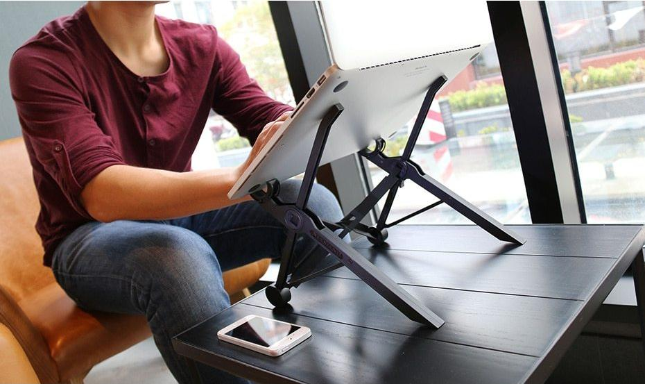 Portable Adjustable Laptop Stand - Foldable Pc And Macbook Lapdesk - Laptop Stand