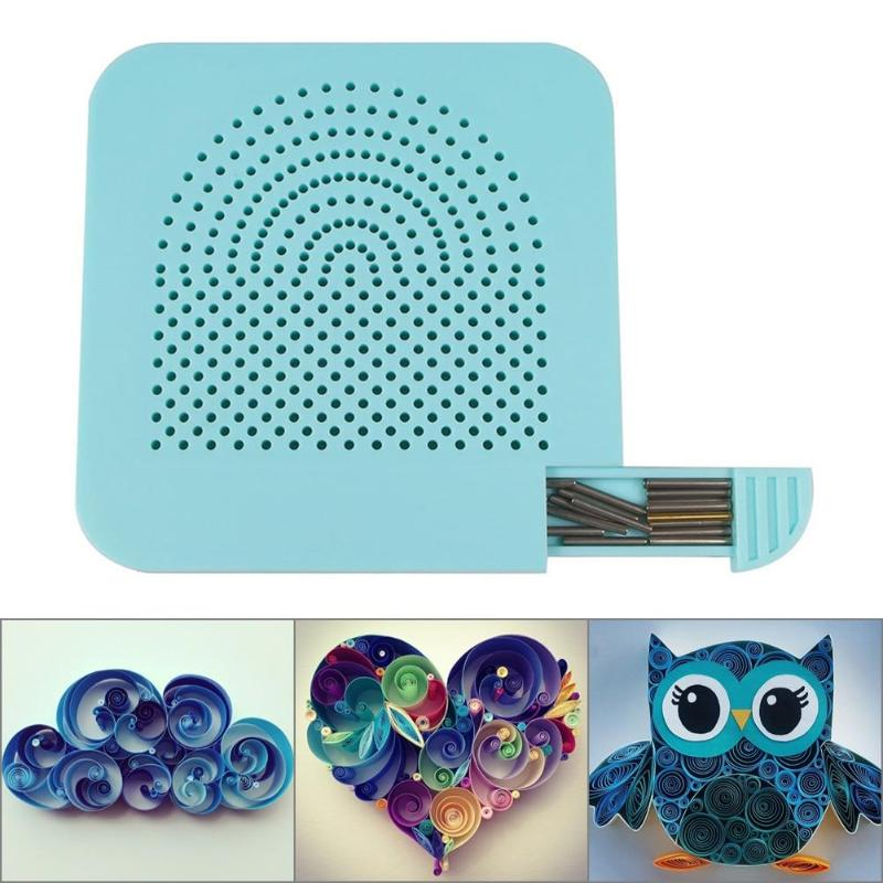 Easy Paper Quilling Winder Grid Guide Board - Paper Folding Craft Tool - Blue