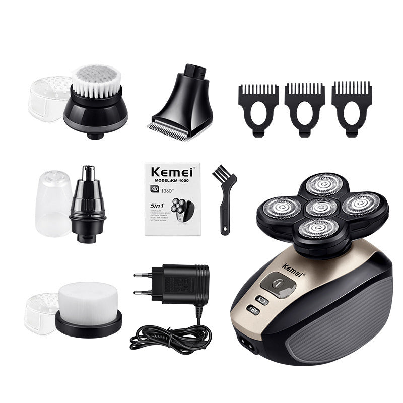 Easy Head Shaver - 5 in 1 4D Rechargeable Electric Shaver - Electric Shavers