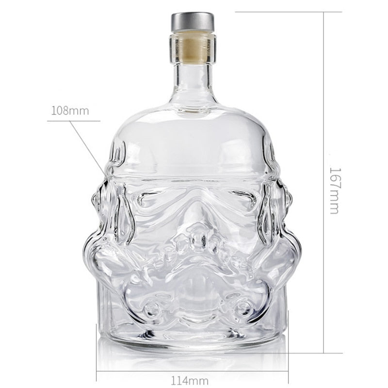 Stormtrooper Whiskey Decanter Helmet Crystal Glass Liquor Bottle - Decanters