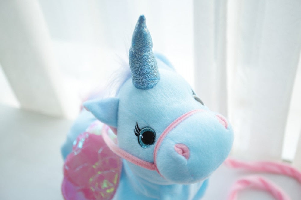 Singing and Walking Stuffed Unicorn Toy For Children