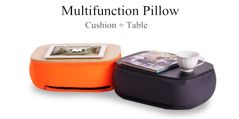 Portable Cushioned Laptop Tray Pillow Notebook Desk Table Pillow