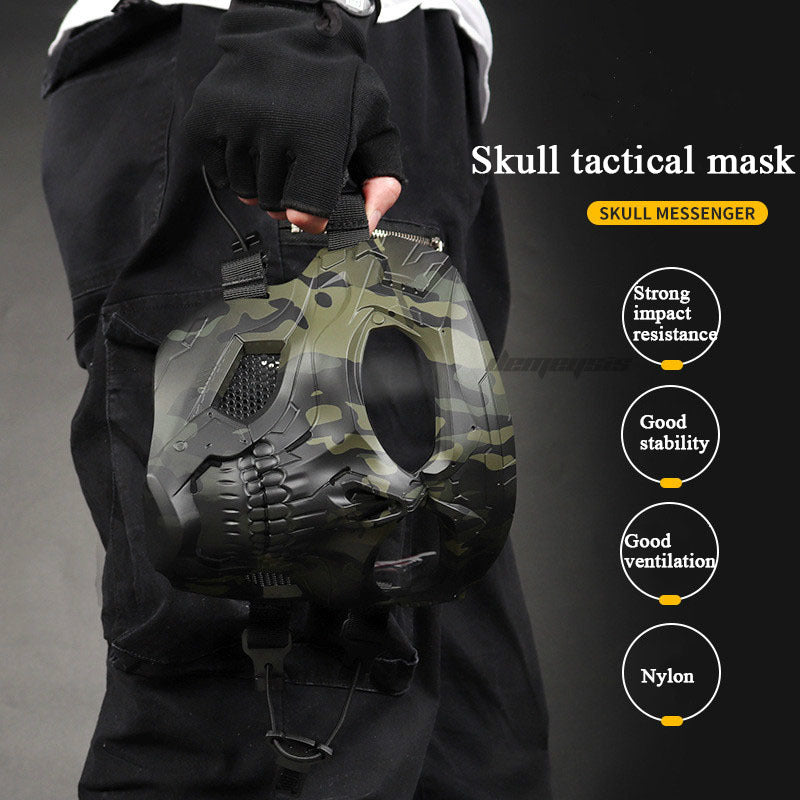 Tactical Paintball Skull Mask - Protective Full Face Airsoft Skull Mask - Paintball Accessories