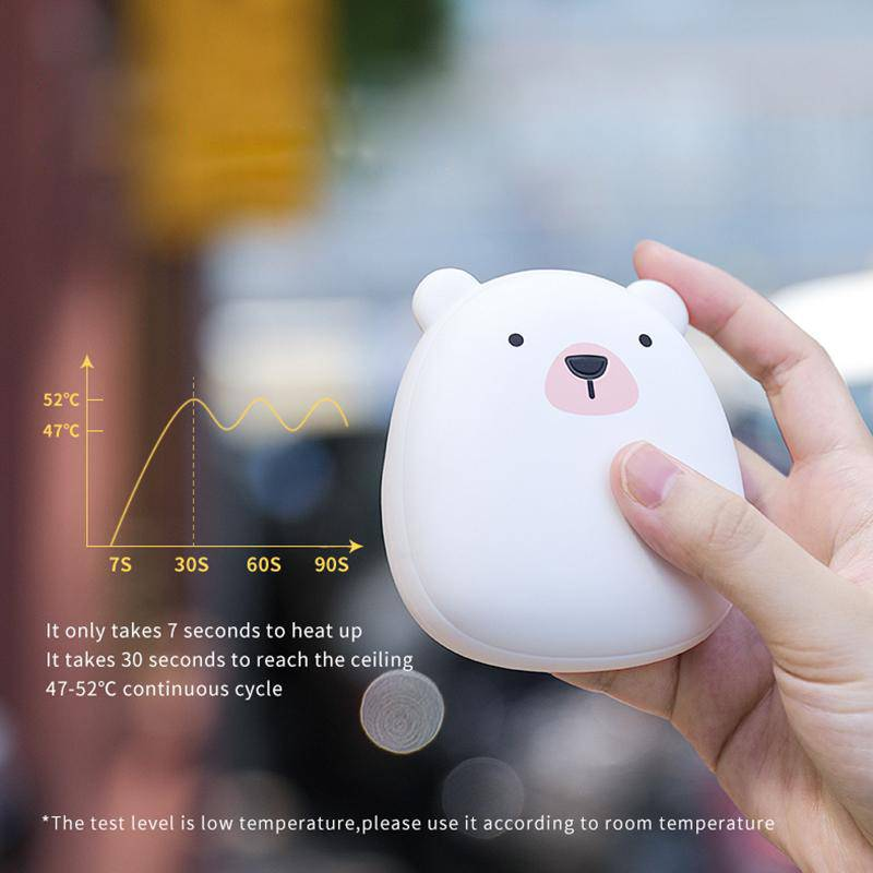 Cute Portable USB Rechargeable Hand Warmer Double Sided & Power Bank