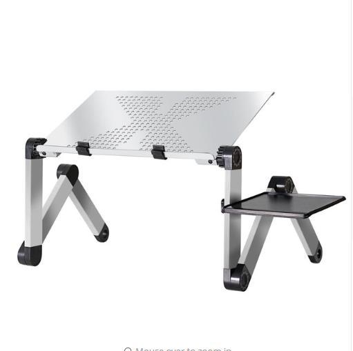 Adjustable Aluminum Laptop Desk Table - Portable Stand For Laptop - Silver - Laptop Desks