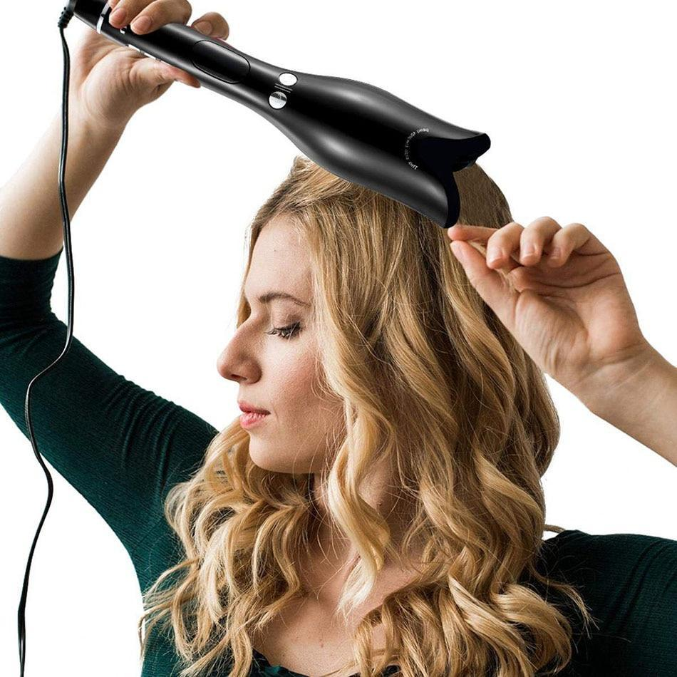 Automatic Magic Hair Curler Wand - Black