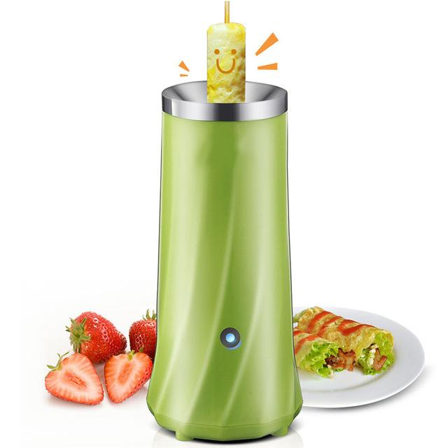 Automatic Multifunctional Single Tube Egg Roll Maker - Breakfast Egg Roll Machine - Green