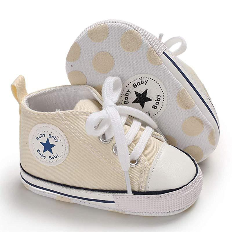 Baby Converse - infant Converse - Newborn Baby Walker Trainers - Beige / 0-6 Months - First Walkers