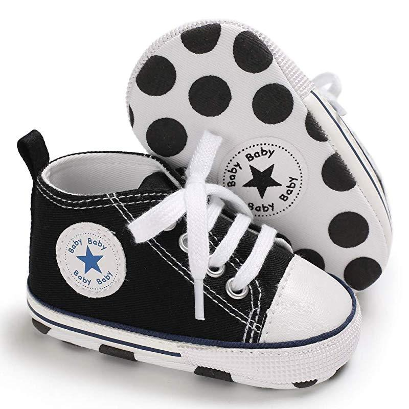 Baby Converse - infant Converse - Newborn Baby Walker Trainers - black / 0-6 Months - First Walkers
