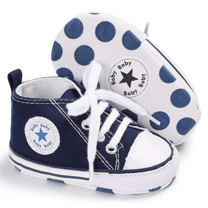 Baby Converse - infant Converse - Newborn Baby Walker Trainers - Blue / 0-6 Months - First Walkers