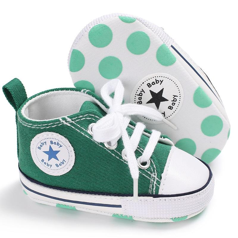 Baby Converse - infant Converse - Newborn Baby Walker Trainers - Green / 0-6 Months - First Walkers