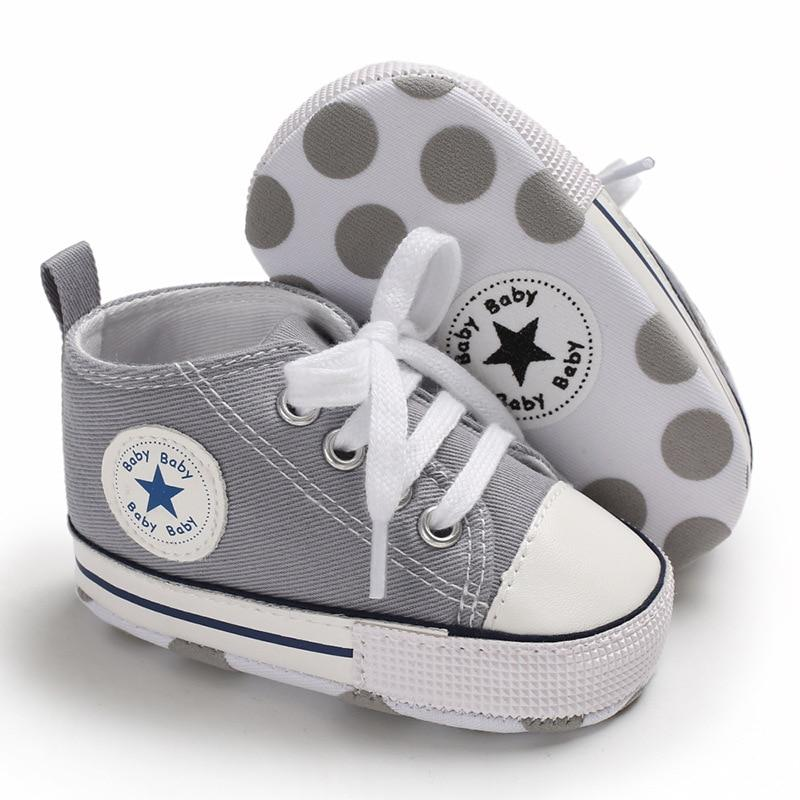 Baby Converse - infant Converse - Newborn Baby Walker Trainers - Grey / 0-6 Months - First Walkers